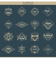 set line art deco logotypes frames borders vector image