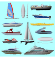 Set of boat vector image