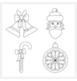 Set of Christmas IconsChristmas Decoration vector image vector image