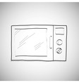 simple hand drawing of microwave vector image