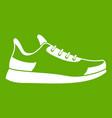 sneaker icon green vector image vector image