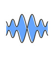 sound audio wave color icon vibration noise vector image vector image