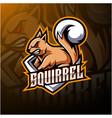 squirrel esport mascot logo design vector image