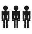 stand three people sign vector image vector image