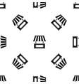 street kiosk pattern seamless black vector image vector image