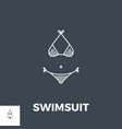 swimsuit icon vector image