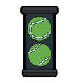 tennis ball box equipment sport vector image vector image