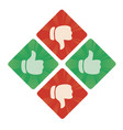 thumbs up and bottom icons vector image