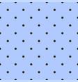 tile pattern with black polka dots on blue vector image vector image