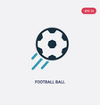 two color football ball icon from sports concept vector image vector image