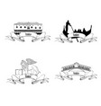 venice landmarks travel italy symbol sign city vector image vector image