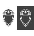 vintage monochrome detailed helmet vector image vector image