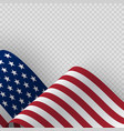 waving flag united states america vector image vector image