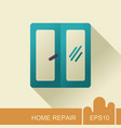 window icon casement sign vector image vector image