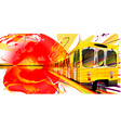 Yellow Subway Background vector image vector image