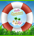 hello summer background season vacation weekend vector image