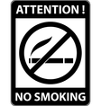 No smoking cigarette prohibited symbol vector image
