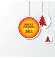 Christmas balls with christmas trees New year vector image