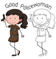 a police woman character vector image vector image