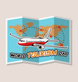 airplane transport with map background vector image