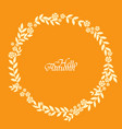 autumn bush leaves and flower wreath vector image vector image