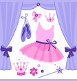 ballet stage and dance accessories vector image vector image