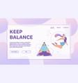 banner keep balance concept meditation vector image