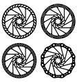 bike brake disc black silhouette vector image