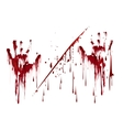 Bloody hand prints with blood drops vector image vector image