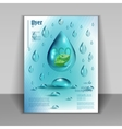 booklet with drops of pure water vector image