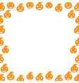 Border with Pumpkin vector image