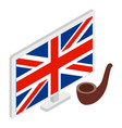 british symbol icon isometric style vector image vector image