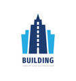 building concept logo design build house icon vector image