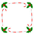 christmas greeting card border template vector image