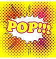 Comic bubble pop text vector image