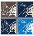 deep space explorer vector image