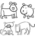 dogs or puppies for coloring vector image vector image