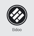 eidoo cryptocurrency - pictogram symbol vector image vector image