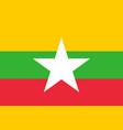 flag myanmar vector image vector image
