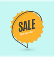 flat linear promotion banner speech bubble price vector image vector image