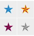 four stars set vector image vector image