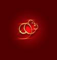 gold logo rat chinese zodiac sign year rat vector image vector image
