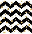 Golden polka dot seamless pattern Gold confetti vector image