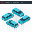green minivan car vector image vector image