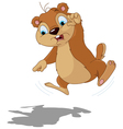 Groundhog scared of their shadow vector image vector image