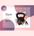 gym website landing page design template vector image