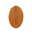 handcrafted oval wooden signboard with place for vector image