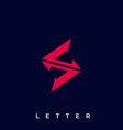 letter s template vector image