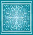 Light Blue Floral Luxury Ornamental Pattern vector image vector image