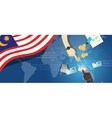 Malaysia economy financial hand holding money vector image vector image
